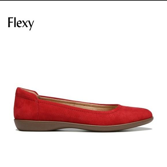 99d8a4c690 Naturalizer Shoes   Nwt Flexy Red Ballet Flats   Poshmark